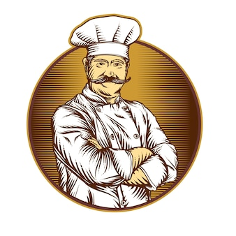 Chef-kok klassieke illustratie