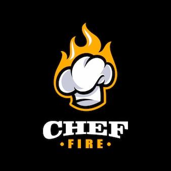 Chef-kok logo sjabloon. bakkerij logo sjabloon