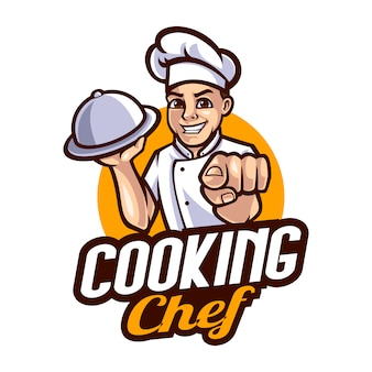 Chef-kok mascotte cartoon afbeelding