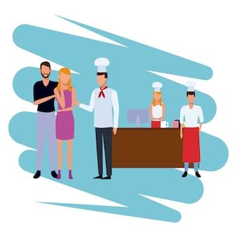 Chef-kok op kassa