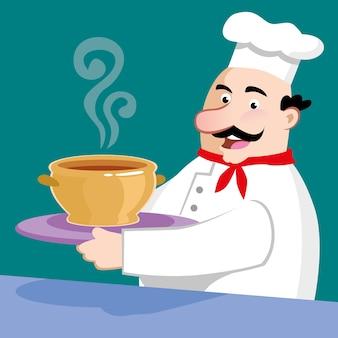 Chef-kok vector illustratie van het ontwerp