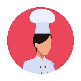 Chef-kok vrouw werknemer avatar