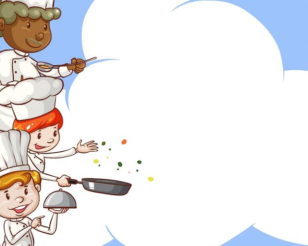 Chef-koks met kopie ruimte