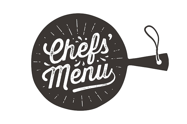 Chefs menu, snijplank.