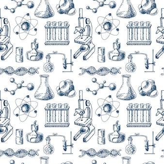 Chemie apparatuur schets naadloos