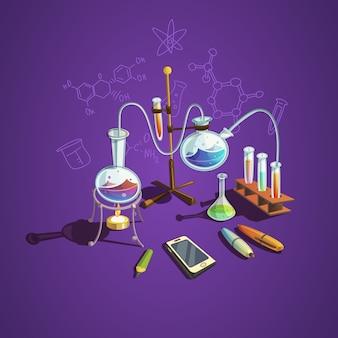 Chemie wetenschap concept