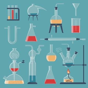 Chemisch glaswerk en apparaten