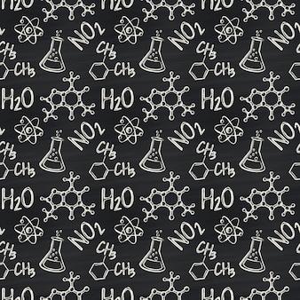 Chemisch naadloos patroon.