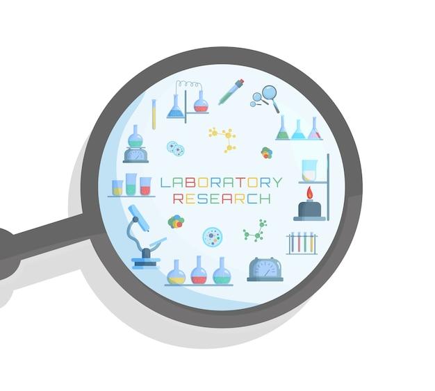 Chemische laboratoriumbiologie van wetenschap en technologie