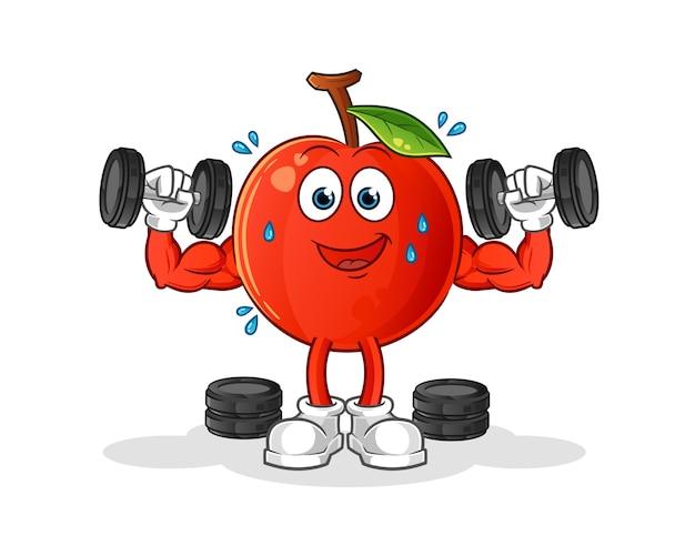 Cherry krachttraining illustratie