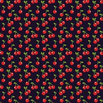 Cherry naadloze patroon.