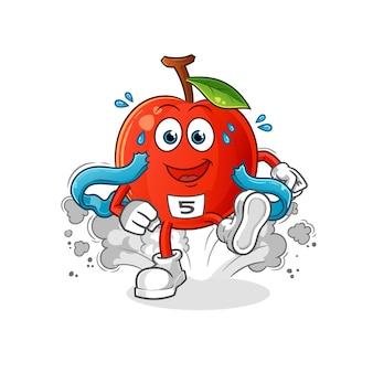 Cherry runner karakter illustratie