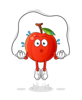 Cherry springtouw oefening illustratie