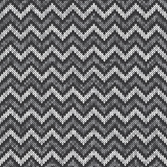 Chevron abstract gebreid patroon. naadloos breien wollen trui design
