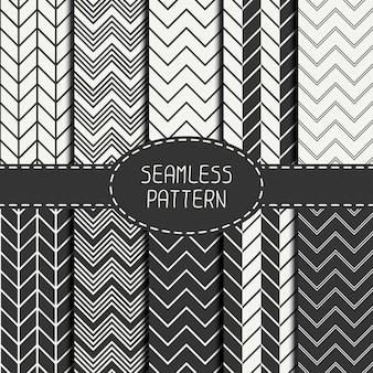Chevron zigzag strepen geometrische naadloze patroon gestreept