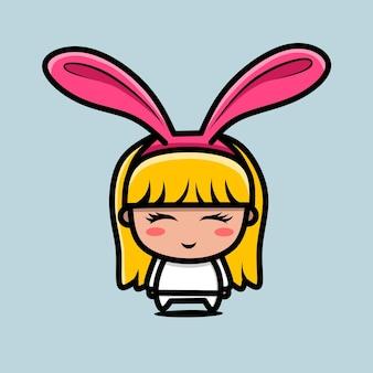 Chibi-ontwerpen voor konijnenmeisjes