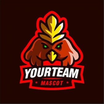 Chibi phonix mascotte gaming-logo