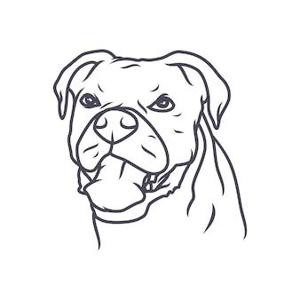Chihuahuahond - vectorembleem / pictogramillustratiemascotte
