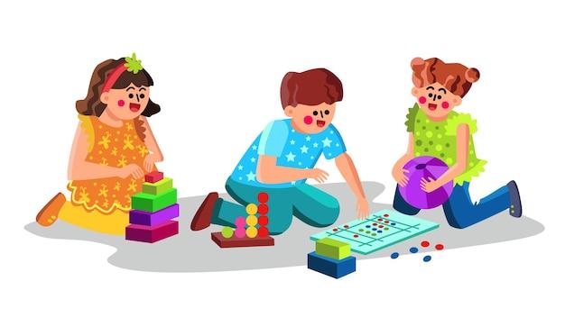 Child care center kinderen spelen speelgoed