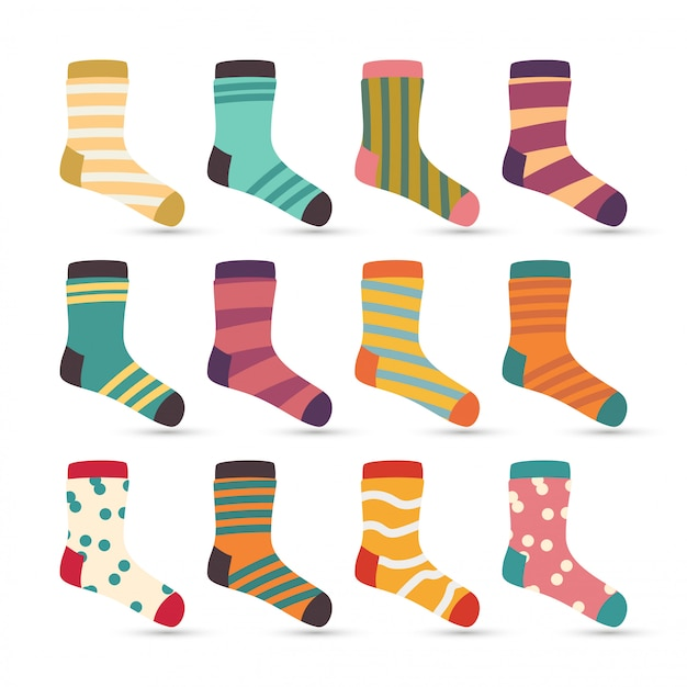 Child socks icons