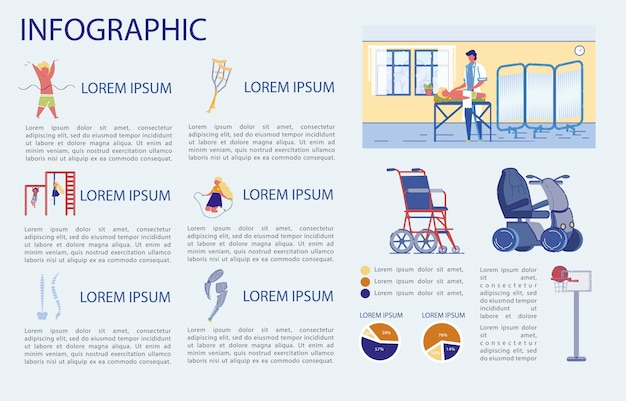 Child spine health and maintenance, infographic.