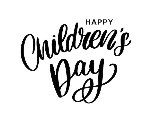Children's dag achtergrond. happy children's day titel. happy children's day inscriptie.