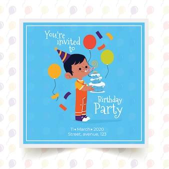 Children's verjaardag kaartsjabloon