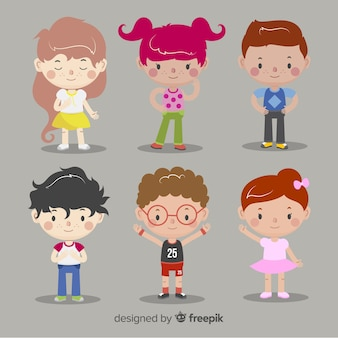 Childrens day flat children background