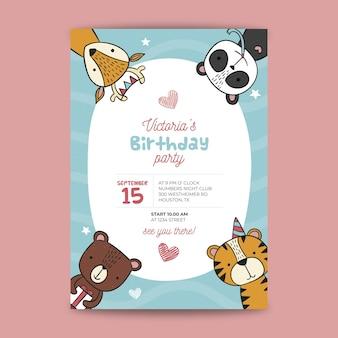 Childrens verjaardag poster