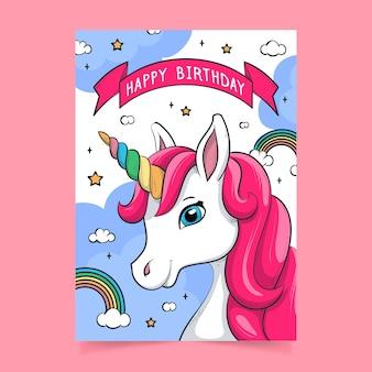 Childrens verjaardag uitnodiging sjabloon