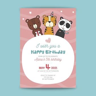 Childrens verjaardagskaart