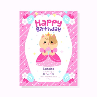 Childrens verjaardagsuitnodiging concept