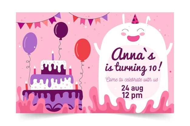 Childrens verjaardagsuitnodiging