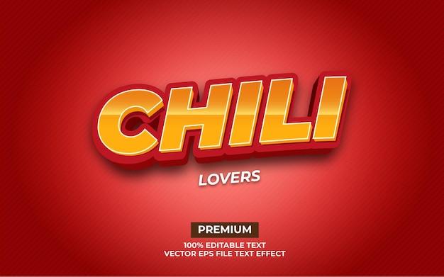 Chili-liefhebbers teksteffect
