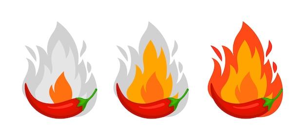 Chili peper kruiden niveaus.