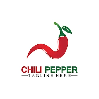 Chili peper logo vector pictogram illustratie ontwerpsjabloon