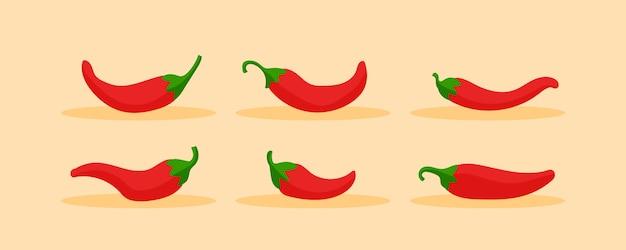 Chili rode peper extra heet. kruiden, pakket met kruiden.