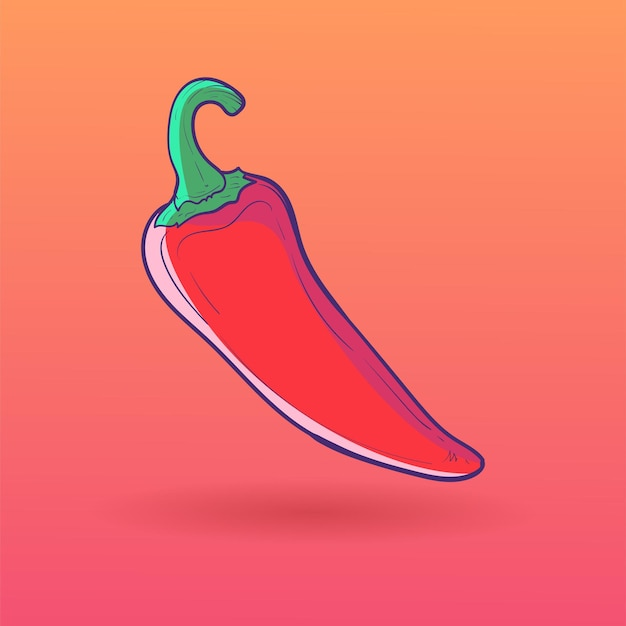 Chili vector illustratie