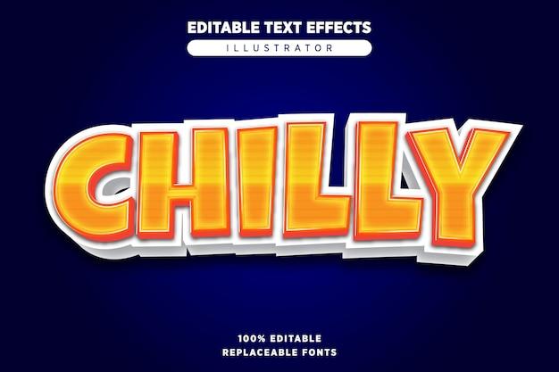 Chilly teksteffect bewerkbaar