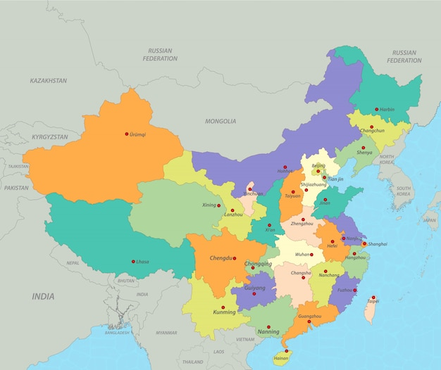 China kaart