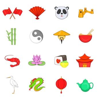 China pictogrammen instellen