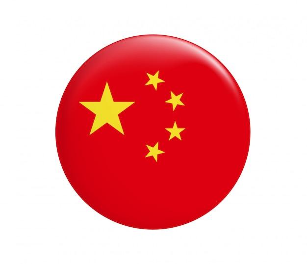 China vlag in cirkelvorm.