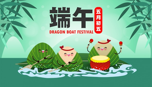 Chinees dragon boat race-festival met rijstbol