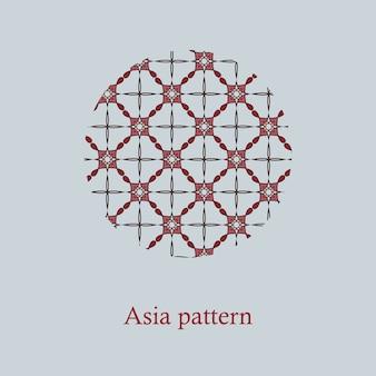 Chinees eenvoudig oosters patroon.