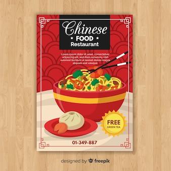 Chinees eten flyer sjabloon