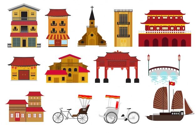 Chinees huis traditioneel in de stad van china