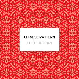 Chinees naadloos patroon. heldere vectorachtergrond met rood ornament. decoratie traditio