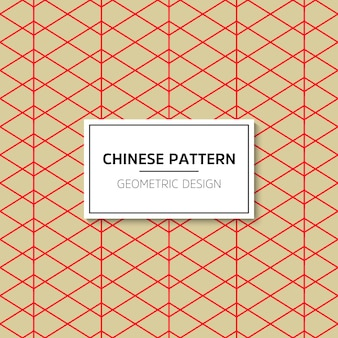 Chinees naadloos patroon. vector rood ornament als achtergrond. decoratie met traditionele kin
