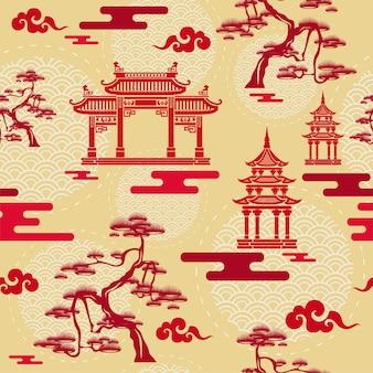 Chinees naadloos patroon.