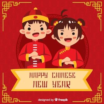 Chinees nieuw jaar 2019 achtergrond
